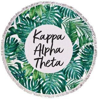 Kappa Alpha Theta Palm Leaf Fringe Towel Blanket
