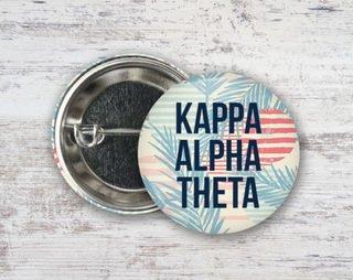 Kappa Alpha Theta Paradise Found Button