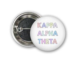 Kappa Alpha Theta Pastel Letter Button