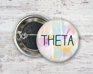 Kappa Alpha Theta Pastel Strokes Button