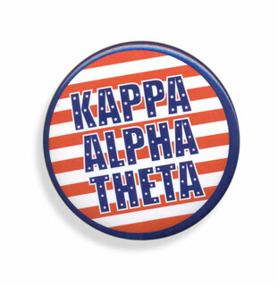 Kappa Alpha Theta Patriotic USA Button