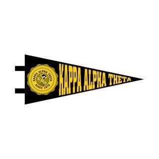 "Kappa Alpha Theta Pennant Decal 4"" Wide"
