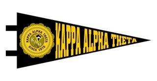 Kappa Alpha Theta Pennant Decal Sticker