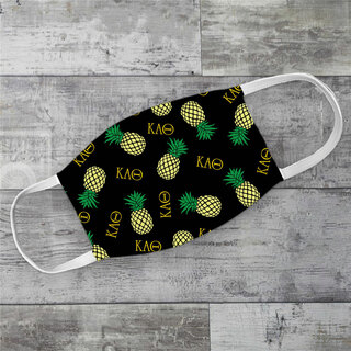 Kappa Alpha Theta Pineapples Face Mask