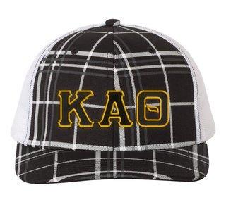 Kappa Alpha Theta Plaid Snapback Trucker Hat - CLOSEOUT
