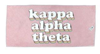 Kappa Alpha Theta Plush Retro Beach Towel