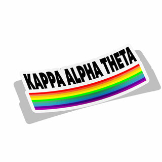 Kappa Alpha Theta Prism Decal Sticker