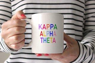 Kappa Alpha Theta Rainbow Coffee Mug