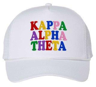 Kappa Alpha Theta Rainbow Trucker Hat