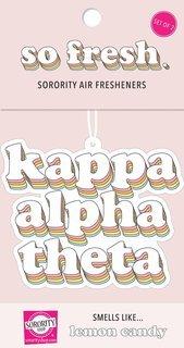 Kappa Alpha Theta Retro Air Freshener (2 pack)