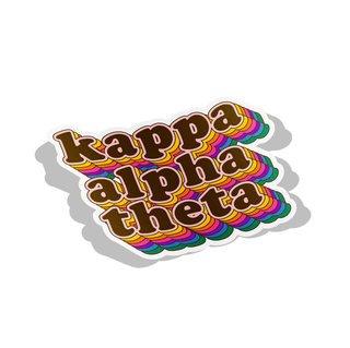 Kappa Alpha Theta Retro Maya Decal Sticker
