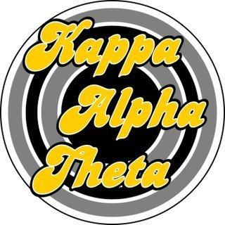 Kappa Alpha Theta Retro Round Decals