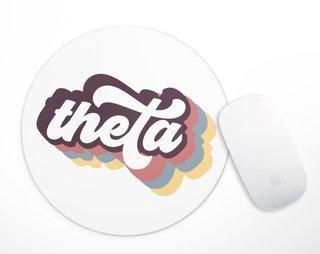 Kappa Alpha Theta Retro Script Mousepad