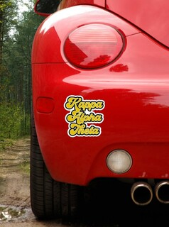 Kappa Alpha Theta Retro Sorority Car Magnet Set of 2