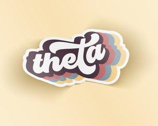 Kappa Alpha Theta Retro Sticker