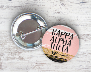 Kappa Alpha Theta Rose Gold Button