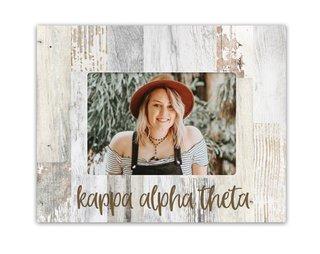 Kappa Alpha Theta Rustic Picture Frame