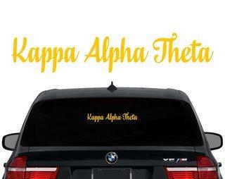Kappa Alpha Theta Script Decal