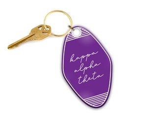 Kappa Alpha Theta Script Motel Keychain