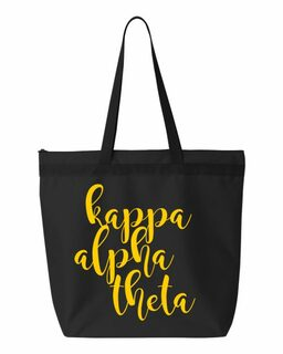 Kappa Alpha Theta Script Tote bag