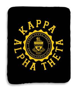 Kappa Alpha Theta Seal Sherpa Lap Blanket