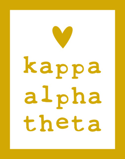 Kappa Alpha Theta Simple Heart Sticker