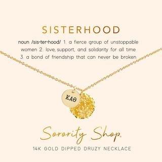 Kappa Alpha Theta Sisterhood Druzy Necklace