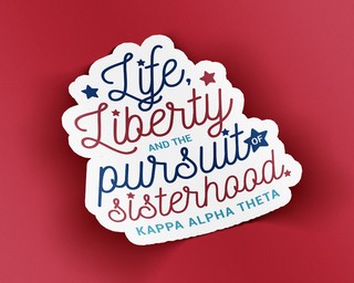Kappa Alpha Theta Sisterhood Sticker