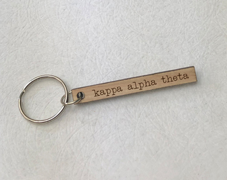 Kappa Alpha Theta Skinny Keychain