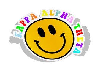 Kappa Alpha Theta Smiley Face Decal Sticker