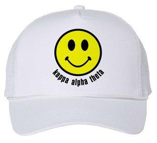 Kappa Alpha Theta Smiley Face Trucker Hat