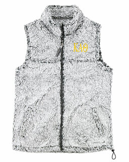Kappa Alpha Theta Smoky Grey Sherpa Vest