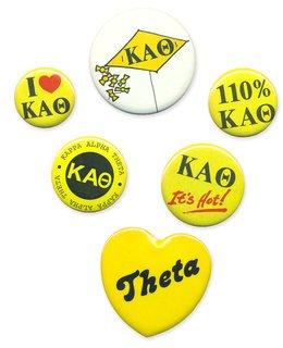 Kappa Alpha Theta Sorority Buttons 6-Pack