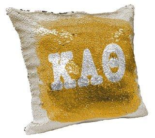 Kappa Alpha Theta Sorority Flip Sequin Throw Pillow Cover