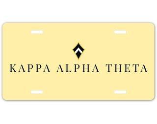 Kappa Alpha Theta Sorority Logo License Cover