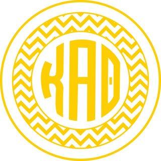 Kappa Alpha Theta Sorority Monogram Bumper Sticker