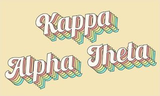 Kappa Alpha Theta Sorority Retro Flag