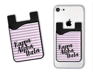 Kappa Alpha Theta Sorority Stripes Caddy Phone Wallet