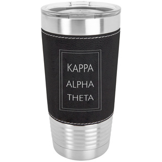 Kappa Alpha Theta Sorority Leatherette Polar Camel Tumbler