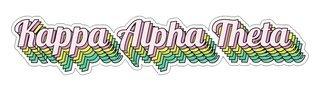 Kappa Alpha Theta Step Decal Sticker