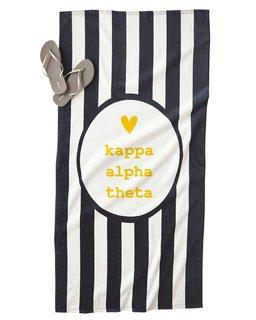 Kappa Alpha Theta Striped Beach Towel