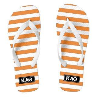 Kappa Alpha Theta Striped Flip Flops