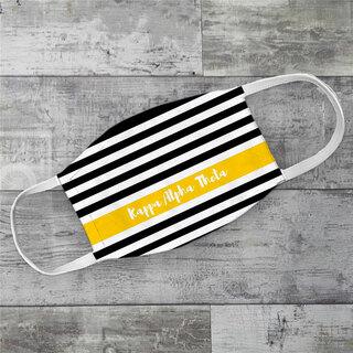Kappa Alpha Theta Stripes Face Mask