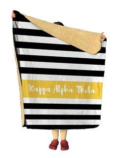 Kappa Alpha Theta Stripes Sherpa Lap Blanket