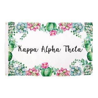 Kappa Alpha Theta Succulent Flag