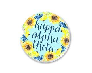 Kappa Alpha Theta Sunflower Car Coaster