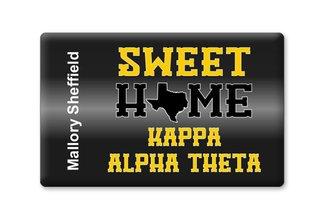 Kappa Alpha Theta Sweet Home Ceramic Magnet