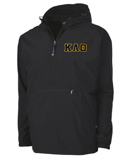 Kappa Alpha Theta Tackle Twill Lettered Pack N Go Pullover