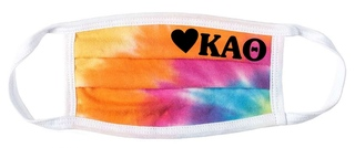 Kappa Alpha Theta Tie Dye Face Mask