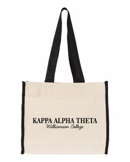Kappa Alpha Theta Tote with Contrast-Color Handles
